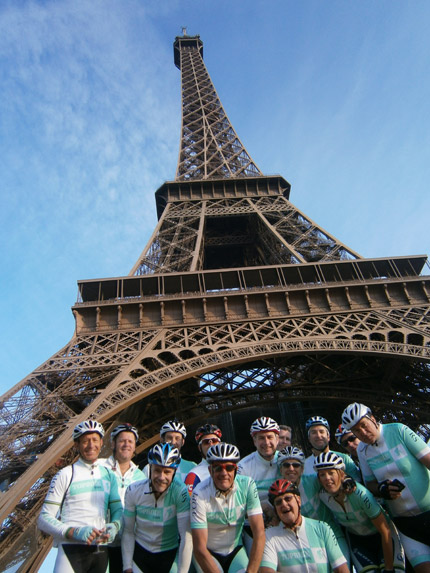 Topbike Tours - Finish your French cycling holiday in style in Paris under the Eiffel Tower.