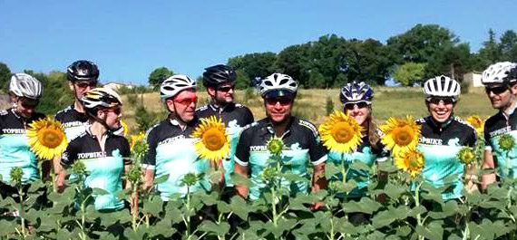 Topbike on Tour - Topbike in Sunflowers