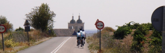 Topbike Riders head into town during La Vuelta 2012