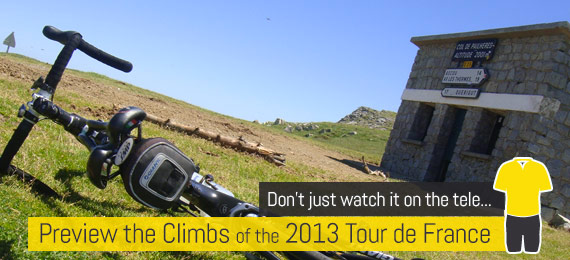 Topbike Tours - Preview the Climbs of the TdF, Starts June 9 2013
