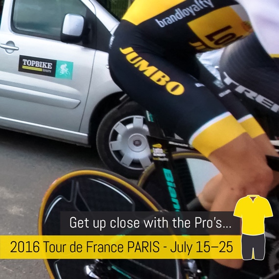 Ride the 2016 Tour De France into Paris with Topbike Tours