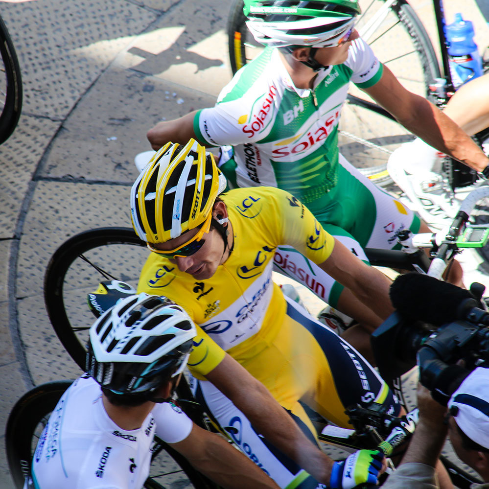 Yellow Jersey Rider of the Tour de France - Stage Starts during the TDF with Topbike Tours