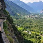 Father & Son enjoy a view over the Oisans Valley, Topbike's TDF Paris Tour 2017