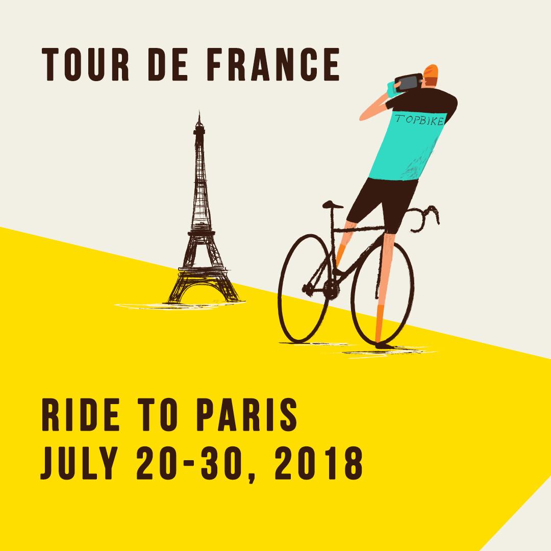 2018 TDF - Topbike Tour de France - Ride to Paris July 20-30 2018