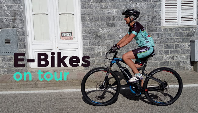 Electric Bikes - E-Bike Features & E-Bikes on Tour Hire Information for Topbike's European cycling holidays