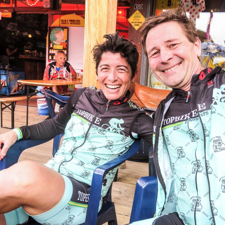 Topbike Tours Liv Gollan enjoying Alp d'Huez