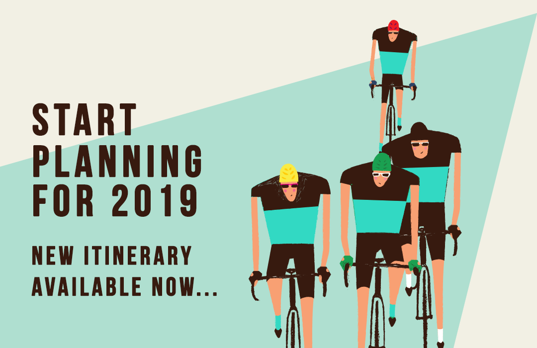 2019 Topbike Tour Cycling Holiday itinerary Now Available
