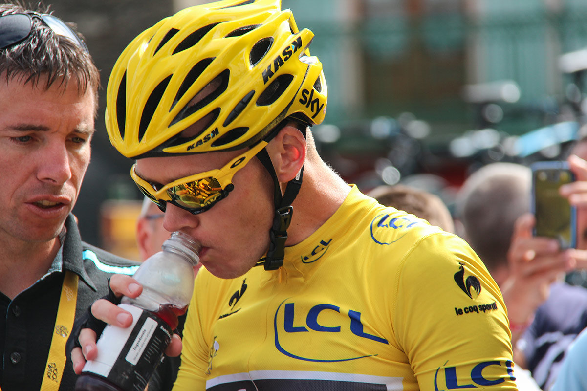 Topbike Tour de France Tour - Yellow Jersey rider Chris Froomes