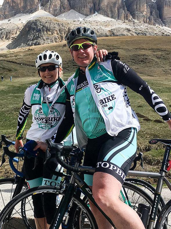 Jamie Drew & Annabelle Drew - Topbike Tour Leaders