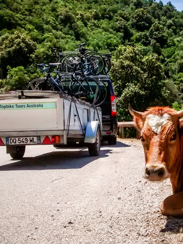 Topbike Tours Australia Trailer - On Tour in Corsica