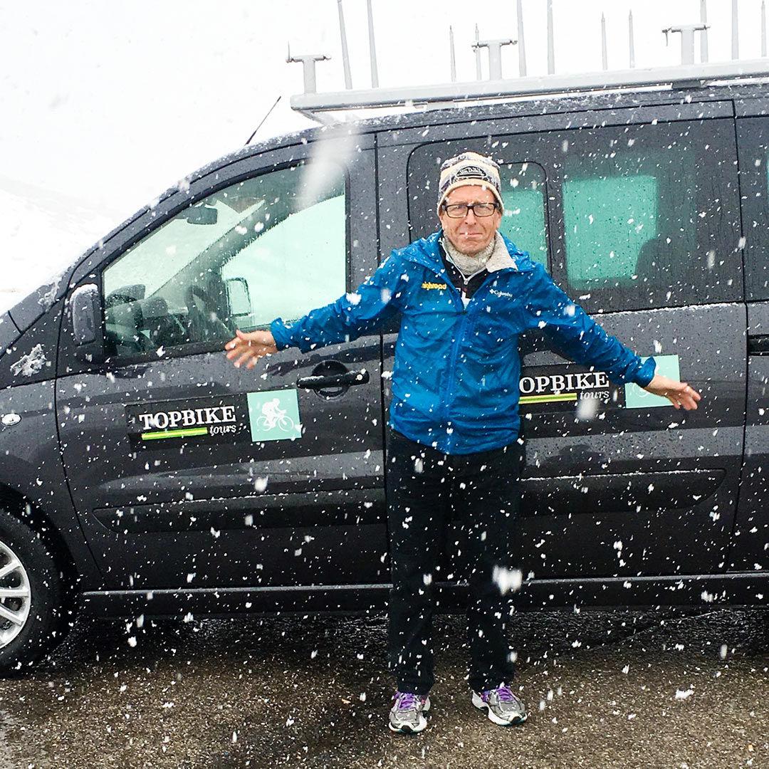 David Olle - Its Snowing - Topbike Tours Giro d'Italia