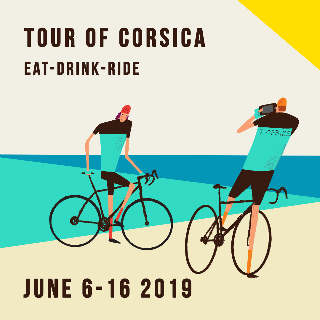 "2019 Topbike Tour of Corsica ""Eat-Drink-Ride"" - June 6-16 2019"