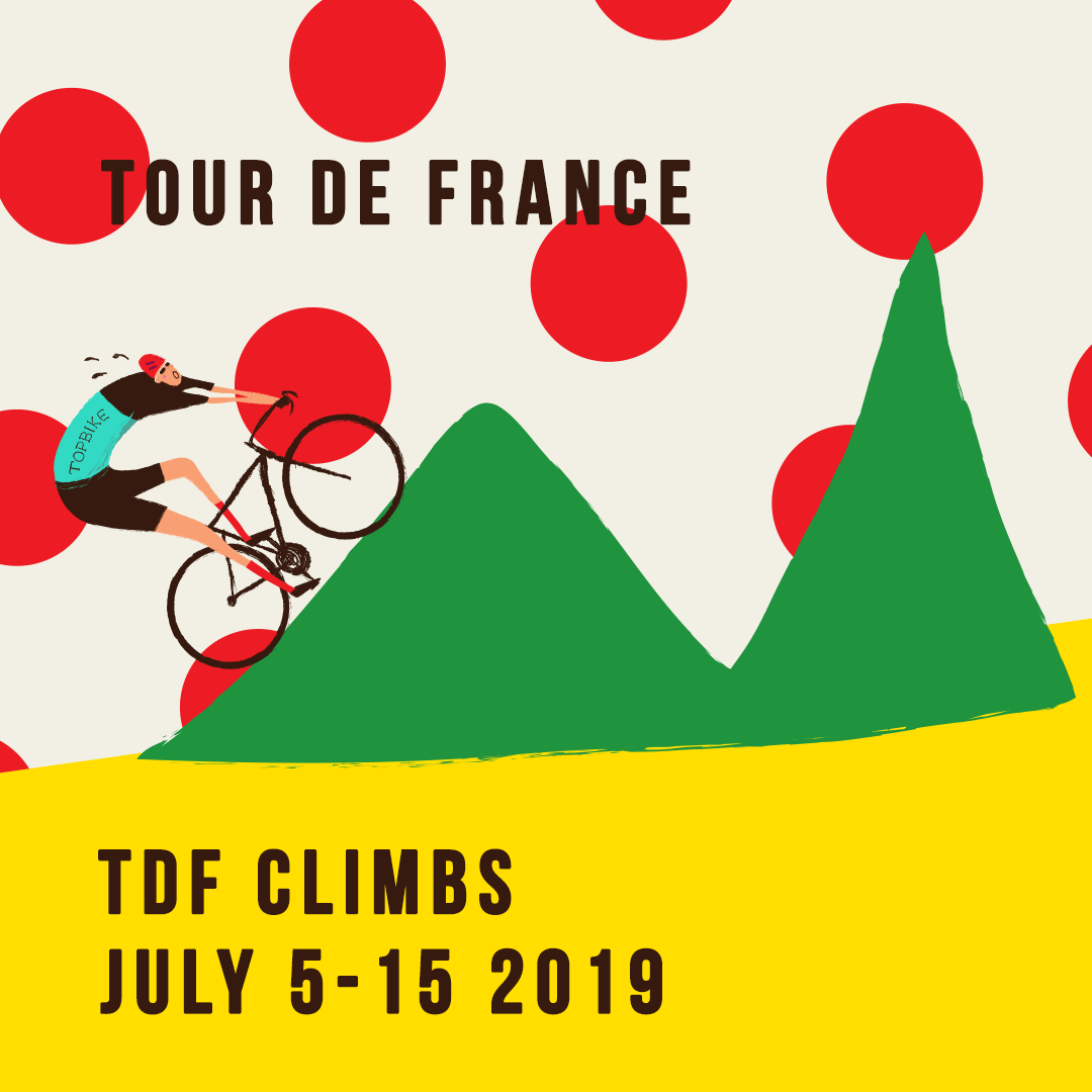 2019 Topbike Tour de France TDF Climbs - July 5-15 2019