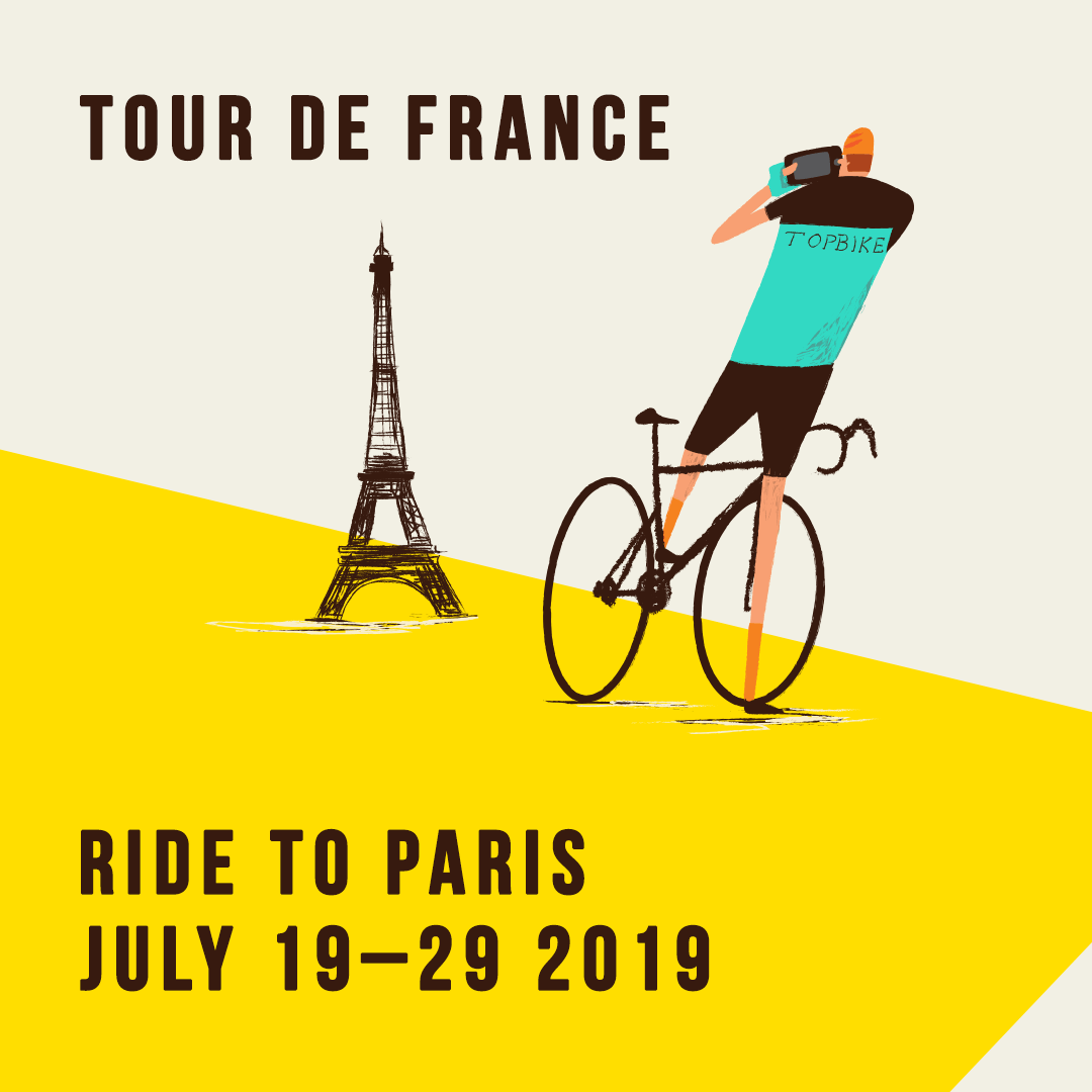 Topbike 2019 Tour de France - Ride to Paris - July 19-29 2019