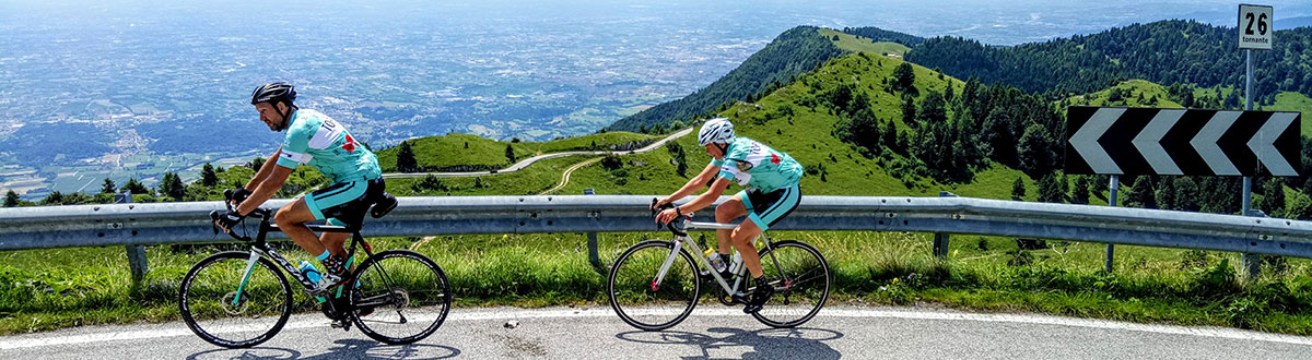 Paul Miller & Naomi, high on the Montegrappa - Topbike Classic Italian Climbs 2018