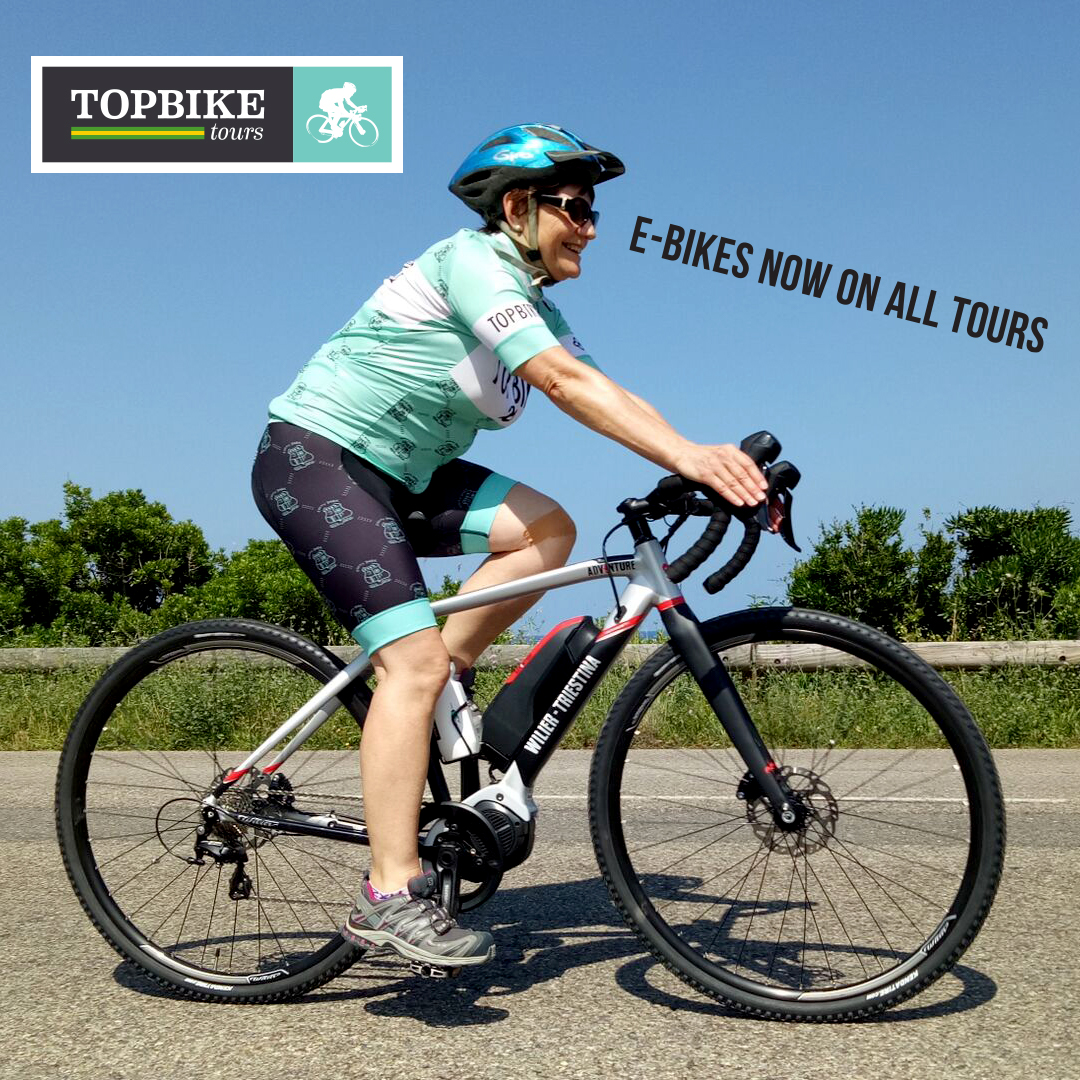 Wilier ebikes availble on all Topbike tours